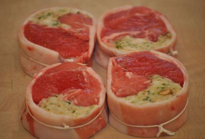 Stuffed Noisettes of Lamb